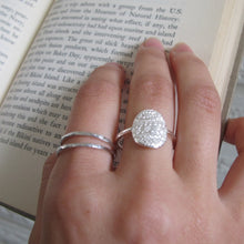Load image into Gallery viewer, 1890's vintage French lace imprinted oval ring - Swallow Jewellery