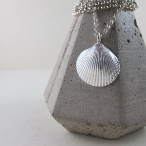Seashell imprinted necklace from Parksville, Vancouver Island - Swallow Jewellery
