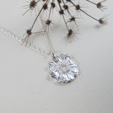 Load image into Gallery viewer, Mini daisy imprinted necklace from Victoria, BC - Swallow Jewellery
