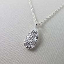 Load image into Gallery viewer, Barnacle imprinted necklace from Kin Beach, Vancouver Island - Swallow Jewellery