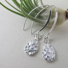 Load image into Gallery viewer, Seaweed imprinted dangle earrings from Dallas Road, Victoria - Swallow Jewellery