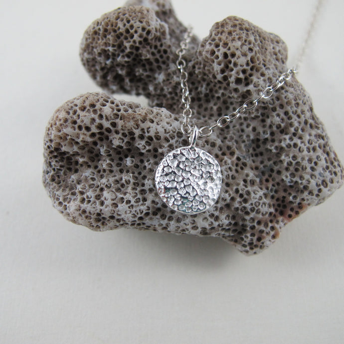 Coral imprinted necklace from Tofino, Vancouver Island