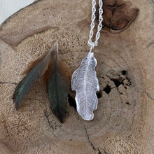 Load image into Gallery viewer, Hummingbird feather imprinted necklace from Gabriola Island, BC - Swallow Jewellery