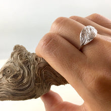 Load image into Gallery viewer, Driftwood imprinted ring from Mystic Beach, Vancouver Island - Swallow Jewellery