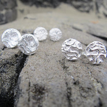 Load image into Gallery viewer, Driftwood imprinted earring studs from Mystic Beach, Vancouver Island - Swallow Jewellery