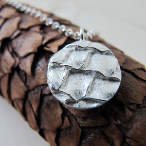 Spruce cone necklace from Victoria, BC - Swallow Jewellery