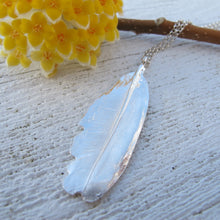 Load image into Gallery viewer, Mourning Dove feather imprinted necklace from Victoria, BC - Swallow Jewellery