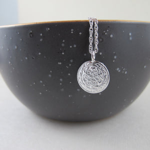 Uniform button imprinted necklace - Swallow Jewellery