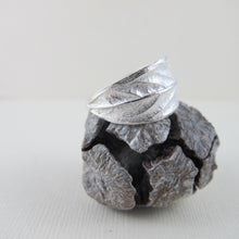 Load image into Gallery viewer, Willow leaf imprinted ring from Galiano Island, BC - Swallow Jewellery