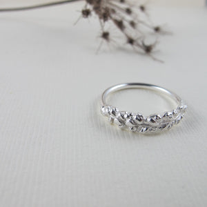 Salt Cedar flower imprinted ring from Victoria, BC - Swallow Jewellery