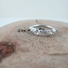 Load image into Gallery viewer, Salt Cedar flower imprinted ring from Victoria, BC - Swallow Jewellery