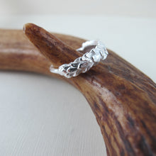 Load image into Gallery viewer, Cedar leaf imprinted ring from Victoria, BC - Swallow Jewellery