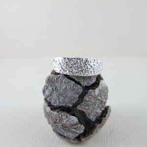 Coral imprinted ring from Tofino, Vancouver Island - Swallow Jewellery