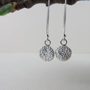 Coral imprinted dangle earrings from Tofino, Vancouver Island - Swallow Jewellery