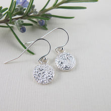 Load image into Gallery viewer, Coral imprinted dangle earrings from Tofino, Vancouver Island - Swallow Jewellery