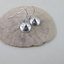 Load image into Gallery viewer, Moon snail shell imprinted dangle earrings - Swallow Jewellery