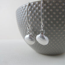 Load image into Gallery viewer, Mini seashell imprinted dangle earrings - Swallow Jewellery