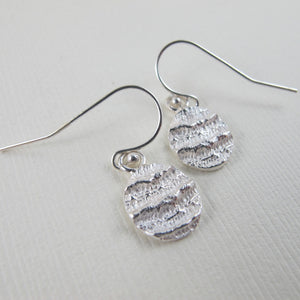 Port Renfrew coral imprinted dangle earrings from Vancouver Island - Swallow Jewellery