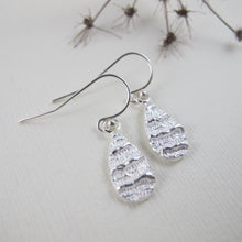 Load image into Gallery viewer, Port Renfrew coral imprinted dangle earrings from Vancouver Island - Swallow Jewellery