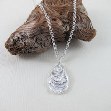 Load image into Gallery viewer, Driftwood imprinted long necklace from Mystic Beach, Vancouver Island - Swallow Jewellery