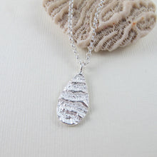 Load image into Gallery viewer, Port Renfrew coral imprinted long necklace from Vancouver Island - Swallow Jewellery