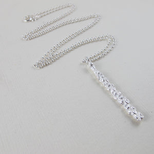 Pine needle tip imprinted necklace from Victoria, BC - Swallow Jewellery