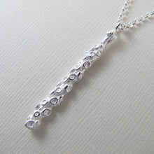 Load image into Gallery viewer, Pine needle tip imprinted necklace from Victoria, BC - Swallow Jewellery