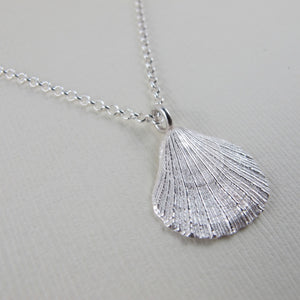 Scallop shell imprinted necklace from Tofino, Vancouver Island - Swallow Jewellery