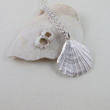 Load image into Gallery viewer, Scallop shell imprinted necklace from Tofino, Vancouver Island - Swallow Jewellery
