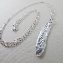 Load image into Gallery viewer, Dragonfly wing imprinted necklace from Sidney Spit, BC - Swallow Jewellery