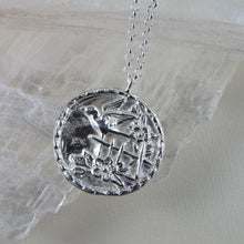 Load image into Gallery viewer, Sparrow bird vintage button imprinted long necklace - Swallow Jewellery