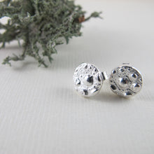 Load image into Gallery viewer, Sea urchin imprinted earring studs from McKenzie Beach, Tofino - Swallow Jewellery