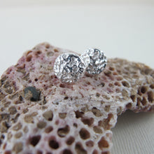 Load image into Gallery viewer, Whale bone imprinted earring studs from Victoria, BC - Swallow Jewellery