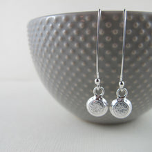 Load image into Gallery viewer, 1920's vintage button imprinted dangle earrings - Swallow Jewellery