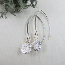 Load image into Gallery viewer, Poppy imprinted dangle earrings from Metchosin, Vancouver Island - Swallow Jewellery