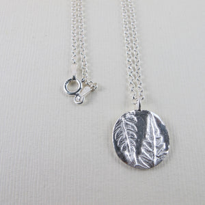 Rainforest fern long necklace from the Tonquin Trail in Tofino, BC - Swallow Jewellery