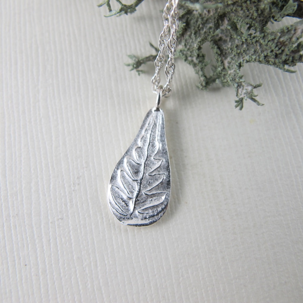 Rainforest fern short necklace from the Tonquin Trail in Tofino, BC - Swallow Jewellery
