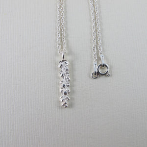 Salt Cedar flower imprinted necklace from Victoria, BC - Swallow Jewellery