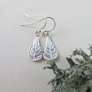 Rainforest fern dangle earrings from the Tonquin Trail in Tofino, BC - Swallow Jewellery