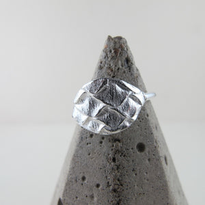 Spruce cone ring from Victoria, BC by Swallow Jewellery