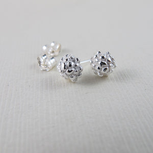Blackberry imprinted earring studs from the Galloping Goose Trail - Swallow Jewellery