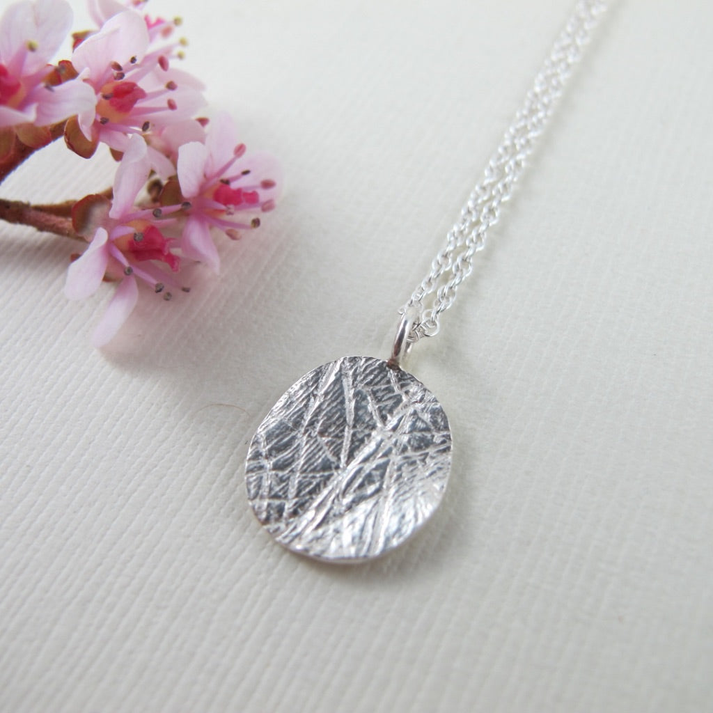 Single charm palm print necklace - gift package available! - Swallow Jewellery