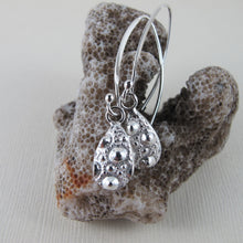 Load image into Gallery viewer, Sea urchin imprinted dangle earrings from MacKenzie Beach, Tofino - Swallow Jewellery