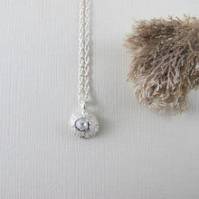 Load image into Gallery viewer, Single barnacle imprinted necklace from Middle Beach, Tofino by Swallow Jewellery