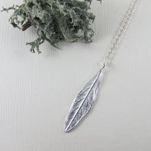 Load image into Gallery viewer, Willow leaf imprinted short necklace from Galiano Island, BC - Swallow Jewellery