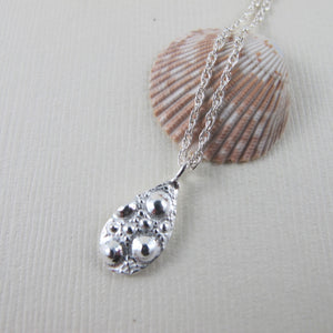 Sea urchin imprinted short necklace from McKenzie Beach, Tofino - Swallow Jewellery