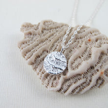 Load image into Gallery viewer, Port Renfrew coral imprinted necklace from Vancouver Island - Swallow Jewellery