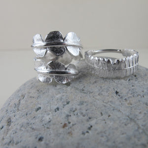 Baby fern wrap ring from Sandcut Beach on Vancouver Island, BC by Swallow Jewellery
