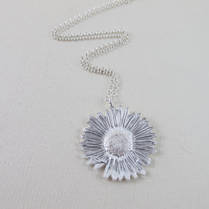 Wandering Daisy imprinted necklace from Strathcona Park, BC by Swallow Jewellery