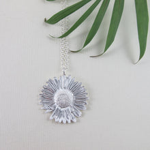 Load image into Gallery viewer, Wandering Daisy imprinted necklace from Strathcona Park, BC by Swallow Jewellery